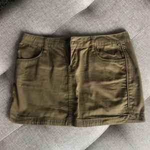 Forever 21 Olive Green Mini Skirt